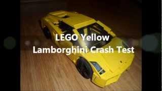 LEGO Yellow Lamborghini Crash Test