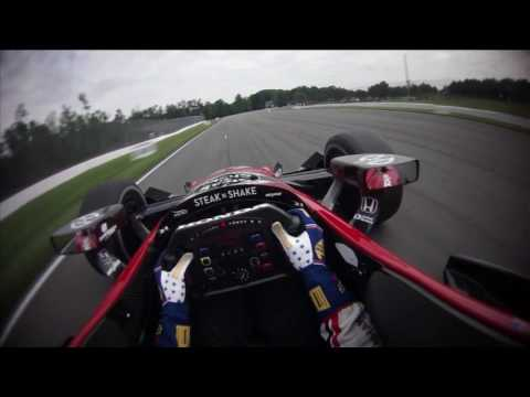 VISOR CAM: Graham Rahal at Mid-Ohio Sports Car Course