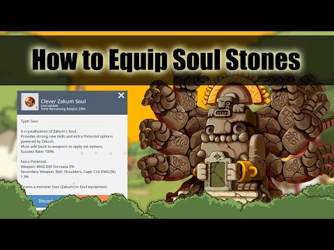 Maplestory M - How To Equip Souls To Your Equipment