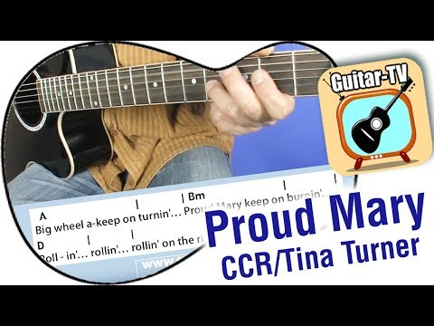 21.1 Proud Mary - CCR / Tina Turner, Cover • Lyrics•Chords•Tutorial•Lesson