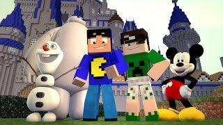 Minecraft: PERSONAGENS DA DISNEY! (Build Battle)
