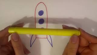 Учимся рисовать ТРАНСПОРТ: трактор, самолет, ракету, грузовик. Учим цвета. #игрушечныеистории