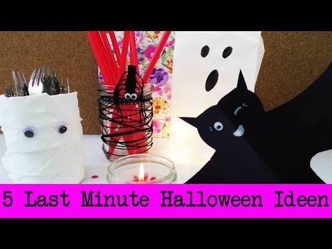 5 Last Minute Halloween Dekoideen | schnelle & einfache Halloween Deko selber machen | Party