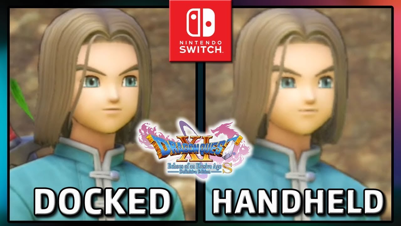 Dragon Quest XI S | Docked VS Handheld | Graphics Comparison & Frame Rate TEST on Switch
