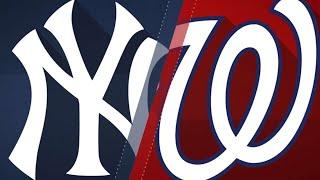 Stanton, Hicks power Yankees past Nationals: 6/18/18