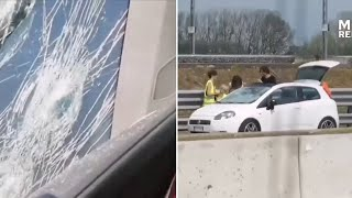 video: Hundreds of car windscreens smashed by hailstones 'as big as apricots' as summer hailstorms in Italy treble