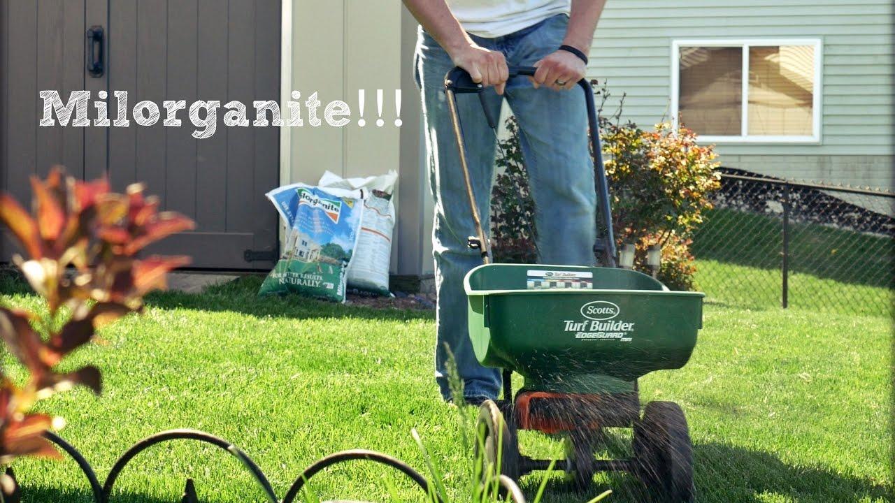 First Milorganite Fertilizer Application of the Season