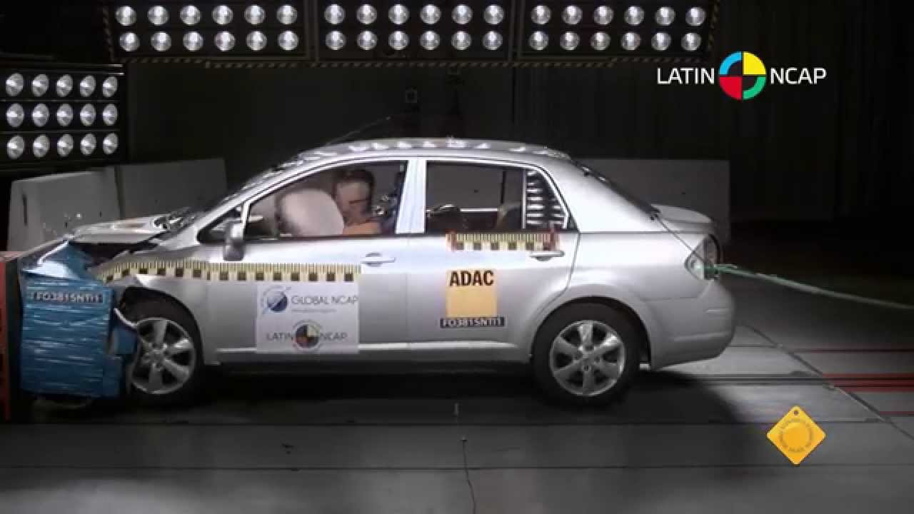 LATIN NCAP  Nissan Tiida Sedan  2 AIRBAGS  4 star safety rating