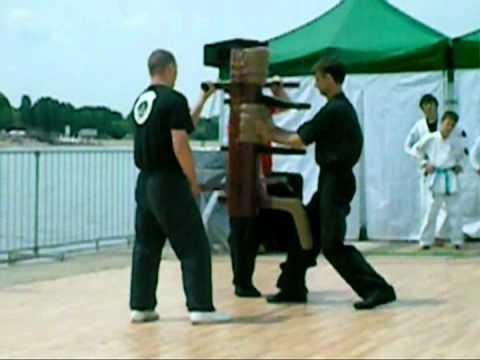 Wing Chun wooden dummy form- Master Mikic Dejan from Serbia  - Belgrade sport fest 2010