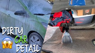 DIRTY CAR DETAILING   Complete Satisfying Deep Cleaning of Dirty Car Interior and Exterior