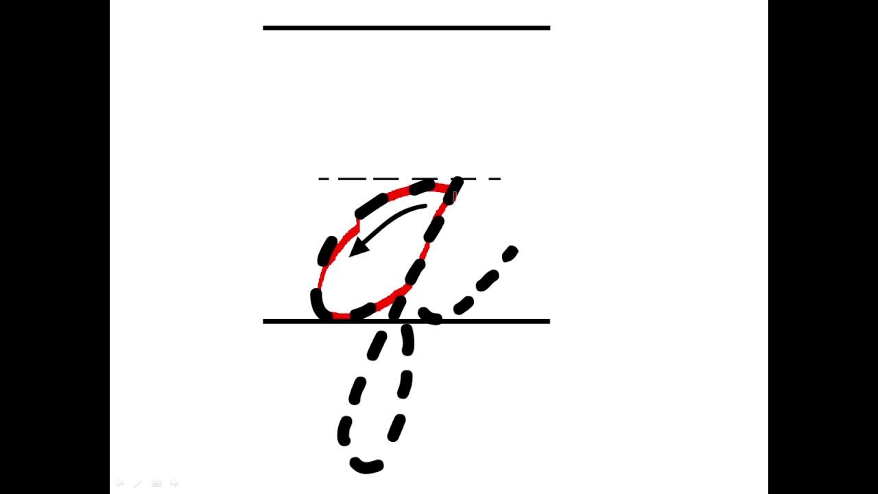lowercase a in cursive