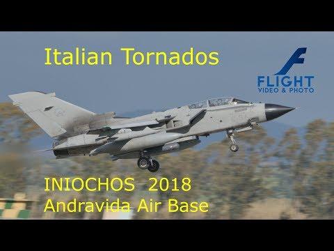 Military Jet Aircraft Panavia Tornado of Italian Air Force at INIOCHOS 2018 Andravida Greece 4K UHD