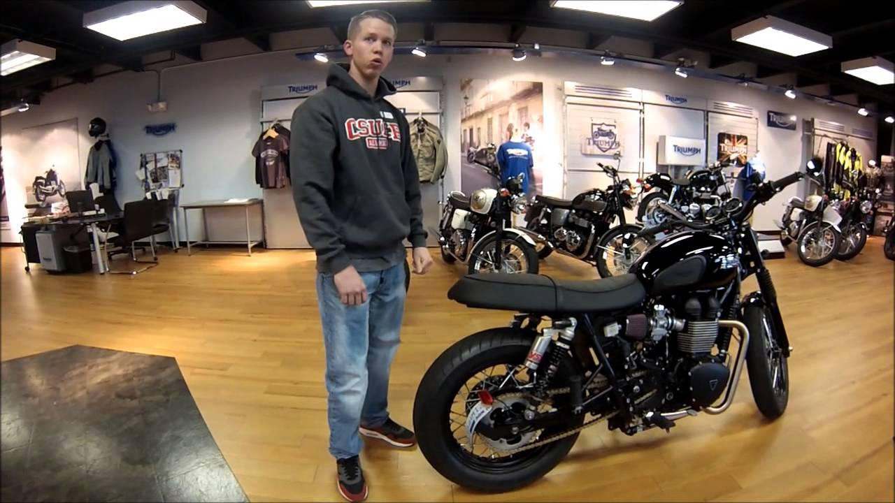 Triumph T100 Black *Over The Counter Custom - YouTube