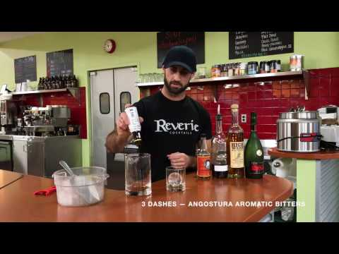 Tony Cross makes a Cognac Whiskey Old Fashioned