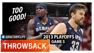 Throwback: Zach Randolph & Marc Gasol Game 5 Highlights vs Clippers (2013 Playoffs) - TOO SICK!