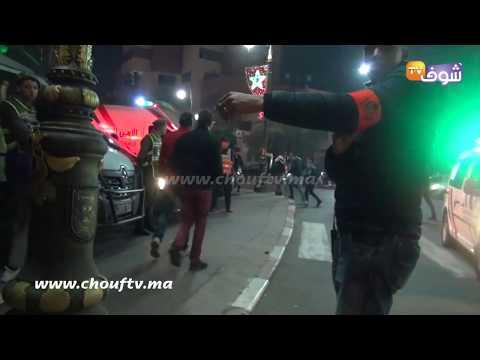 لحظة اعتقال سائق تريبورتور بمراكش ليلة رأس السنة بحوزته كمية من 'الحشيش'