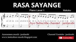 not balok rasa sayange - piano level 1 - lagu daerah maluku - solmisasi