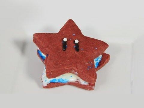 Super Mario Star Ice Cream Sandwich - Quake and Bake