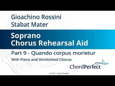Rossini's Stabat Mater Part 9 - Quando corpus morietur - Soprano Chorus Rehearsal Aid