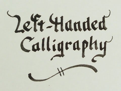 Download Youtube: Left-handed Calligraphy - Beautiful writing for leftys