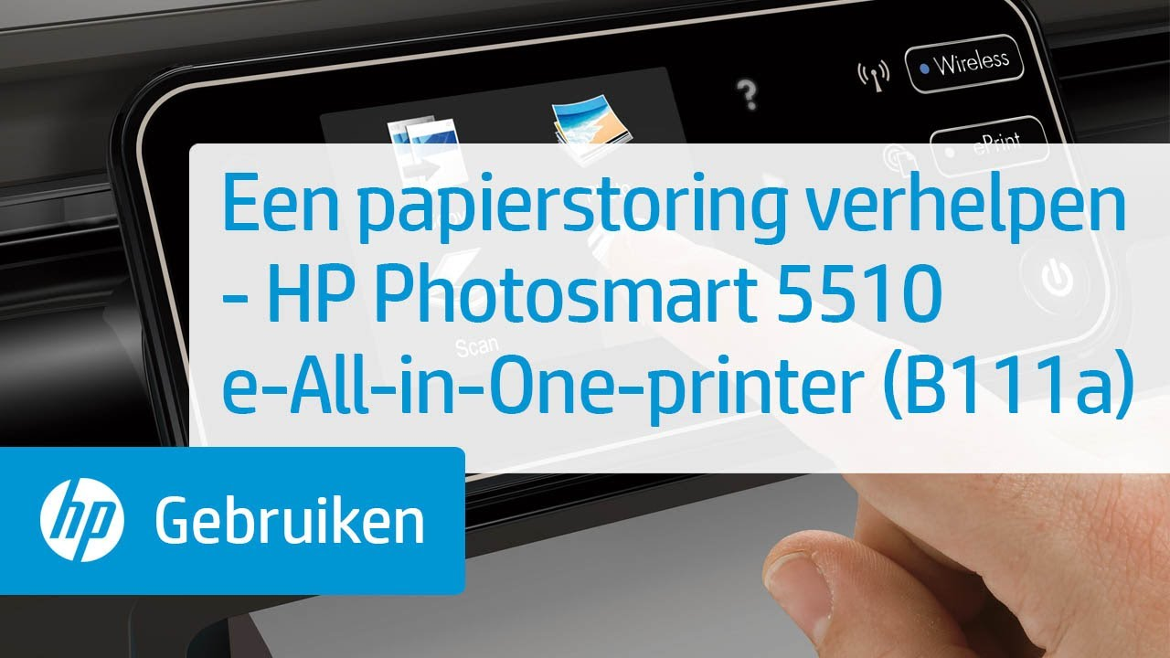 Een Papierstoring Verhelpen Hp Photosmart 5510 E All In
