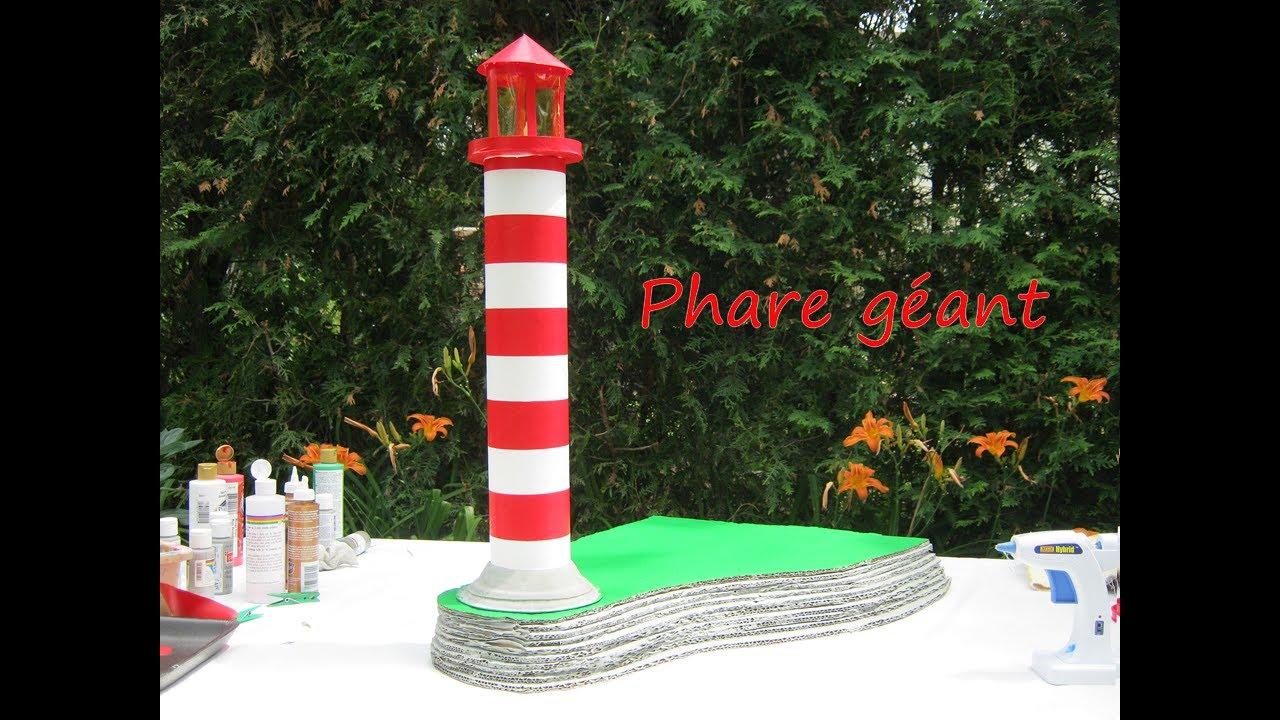 Fabriquer un grand phare en carton youtube for Phare decoratif pour jardin