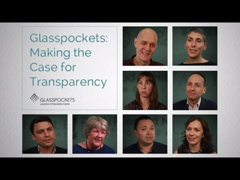 Glasspockets: Making the Case for Transparency