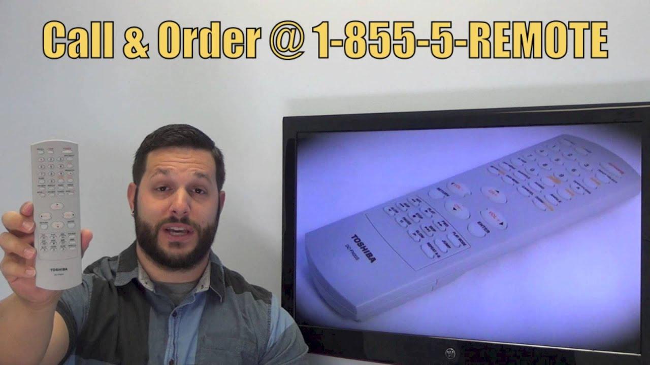 TOSHIBA DCFN20S TV/VCR/DVD Combo Remote PN: 72796929 -  www ReplacementRemotes com by ReplacementRemotes com