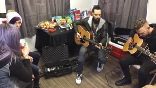 Skillet Acoustic- Back from the dead And Monster