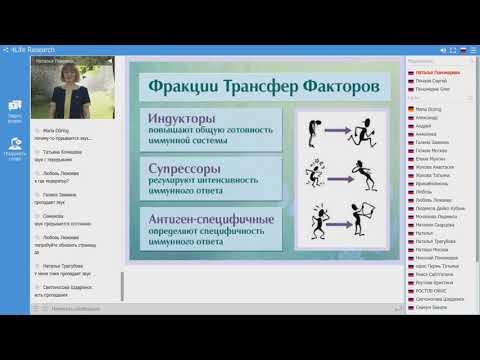 Трансфер фактор - борьба с вирусами и бактериями. Наталья Пономарева. 16.11.2019