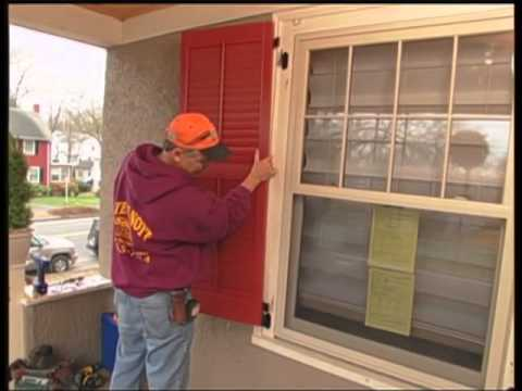 Installing New, Strong Shutters With an Old-Style Look