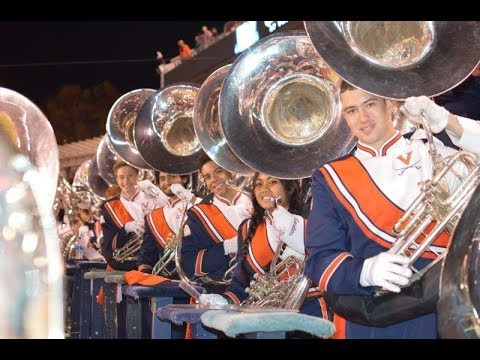 The UVA Cavalier Marching Band in the Stands