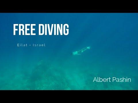 Free Diving | Albert Pashin | Eilat-Israel | Red Sea | 4K