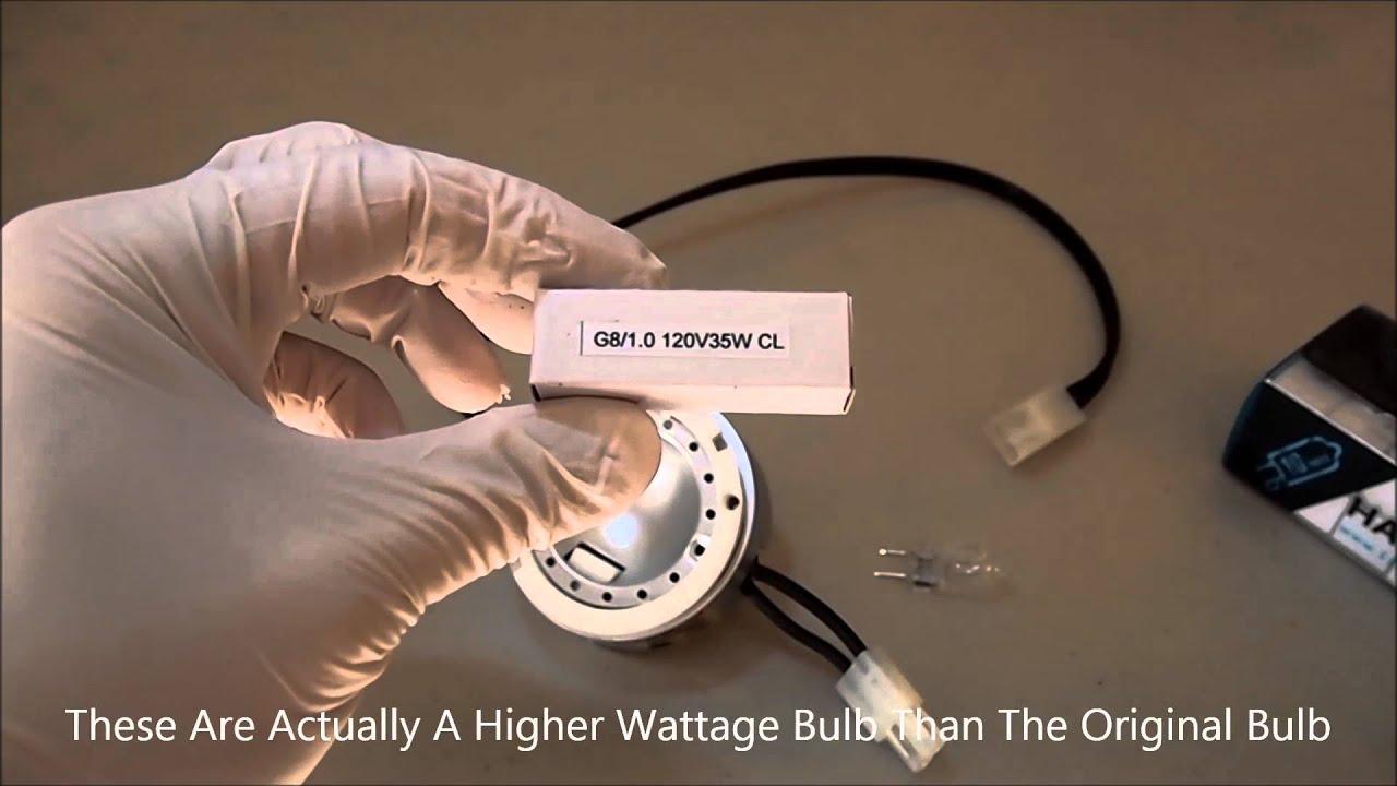Easy  Replacing A G8 Halogen  LED Spot Puck Light Bulb