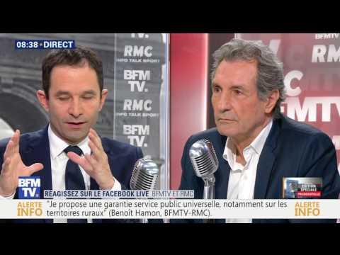 Benoît Hamon face à Bourdin direct