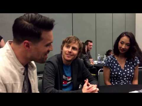 Brett Dalton, Jed Whedon, and Maurissa Tancharoen for Agents of SHIELD at Wondercon 2017!