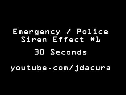 Sound Effects   Police Siren Ambulance Alarm Siren #1   YouTube