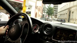 OnBoard Crazy Nissan GTR w/ Akrapovic Exhaust - Loud Accelerations