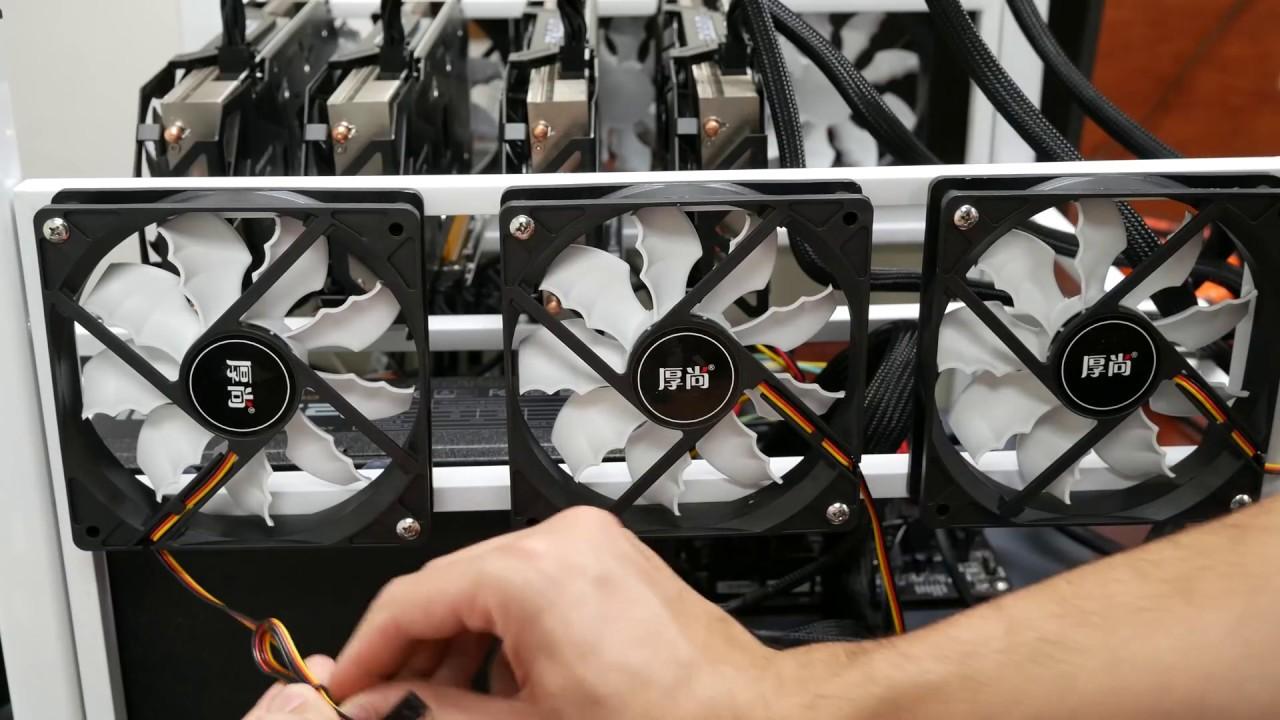 powerful 6 gpu ethereum zcash cryptocurrency mining rig
