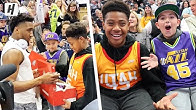 DONOVAN MITCHELL SURPRISING KIDS IN LAST ROW WITH COURT-SIDE SEATS!