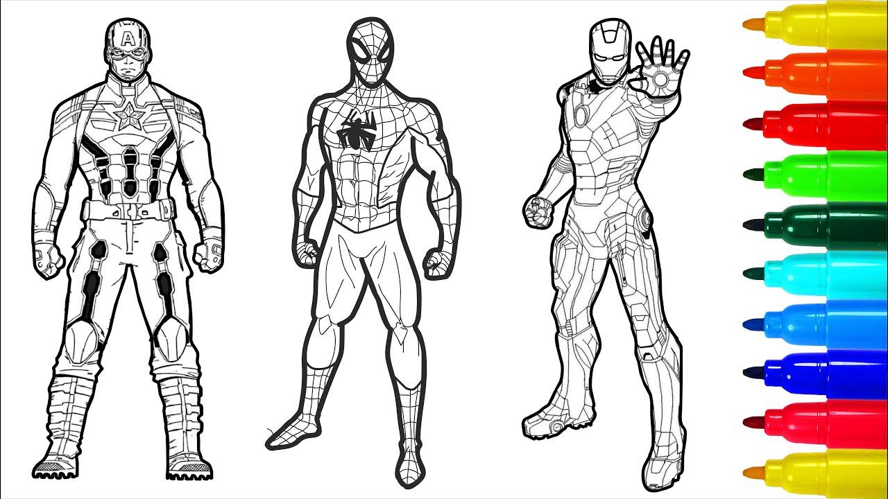 THE AVENGERS Spiderman Iron Man Captain America Wolverine ...