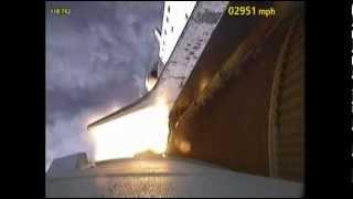 Spettacolare partenza dello Space Shuttle ripresa dalle telecamere esterne alla navicella della NASA