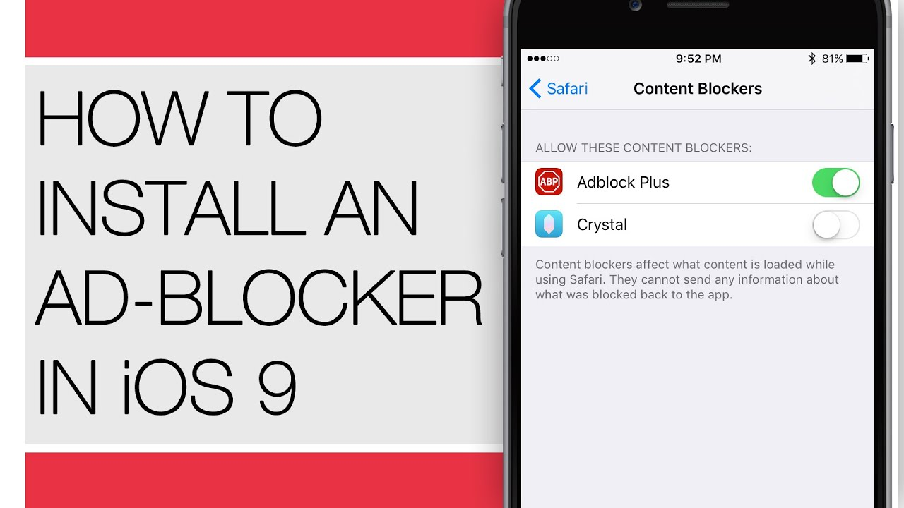 How To Install An Ad Blocker In IOS 9 For IPhone IPad