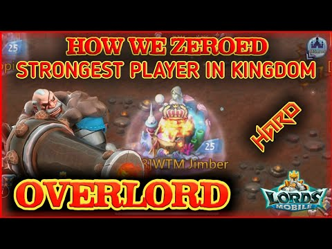 WE ZEROED THE OVERLORD - AFTER EATING HIS RALLY || Lords Mobile