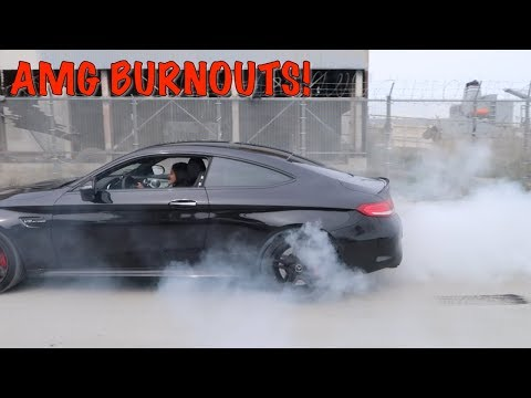 BURNOUTS IN MY MERCEDES BENZ C63S COUPE