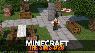 Minecraft The Sims #28: Construindo a Praça da Cidade!