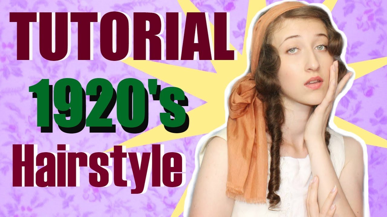 1920 S Hairstyle For Long Hair Tutorial 1920 S Makeup Youtube