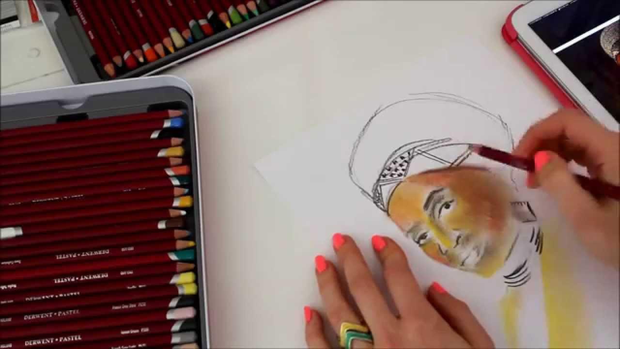 derwent pastel pencil sketch youtube