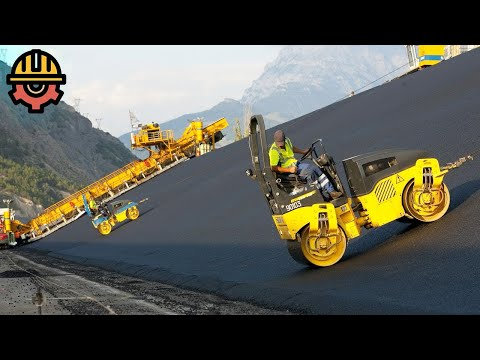 World's Amazing Road Construction Procedure. Incredible Modern Fastest Construct Road Machines