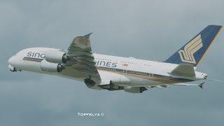 HUGE Beautiful Airplanes departing  London Heathrow airport